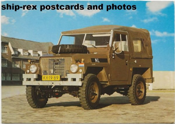 Landrover (Royal Dutch Army) postcard